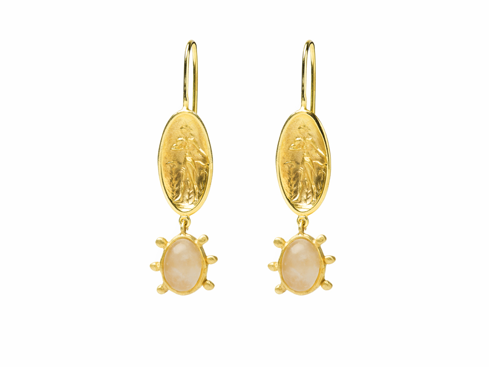 Dimitra-earrings-gold-pink-quartz-danaigiannelli