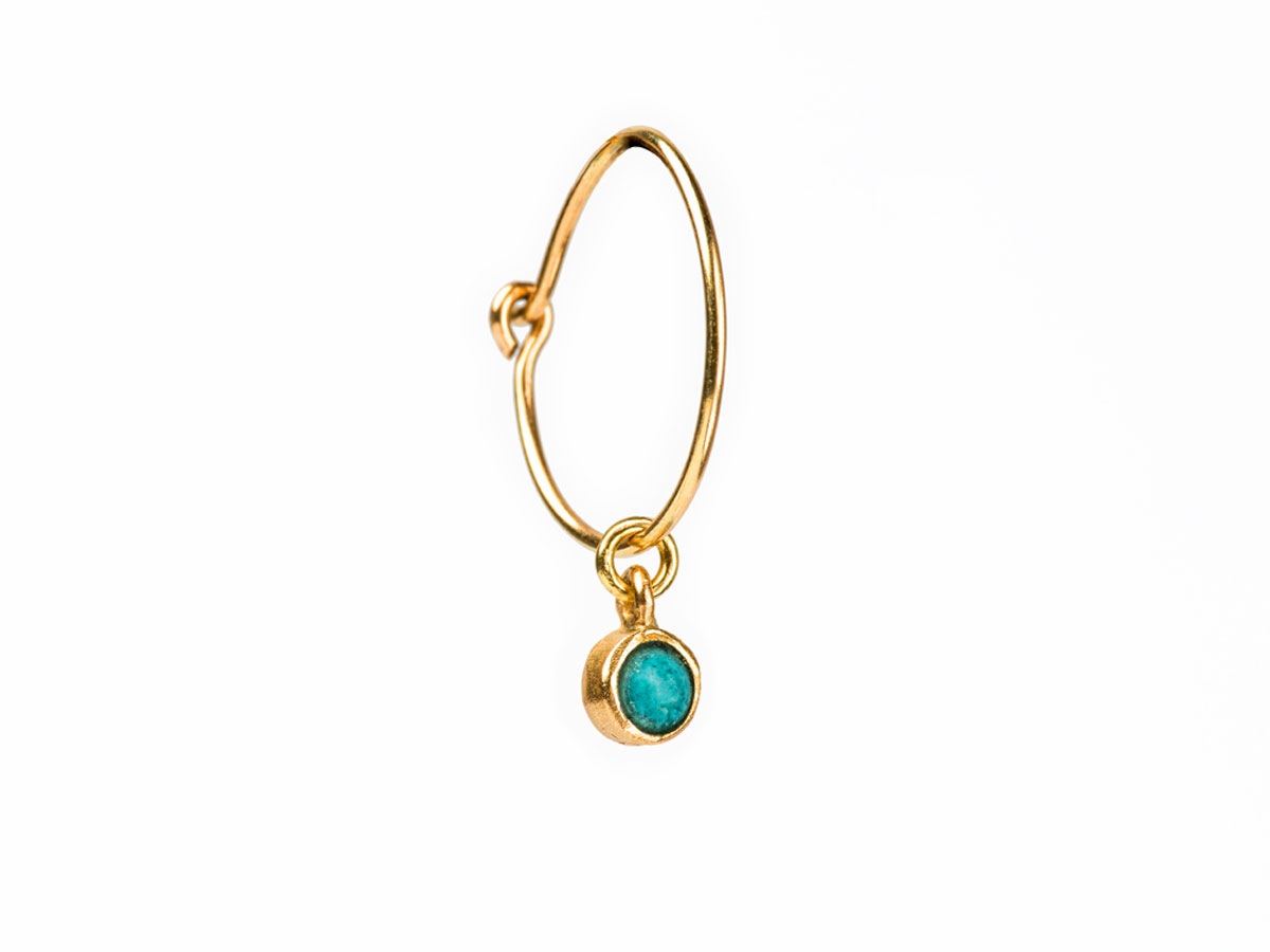 Turquoise-earring-14K-Gold-danaigiannelli